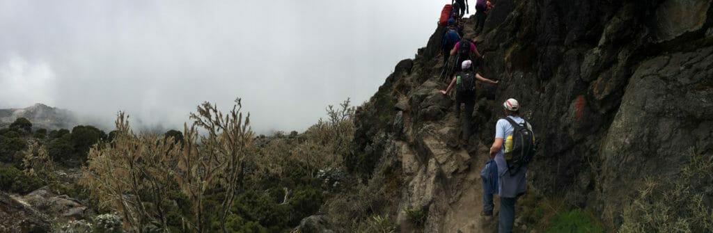entering Shira plateau