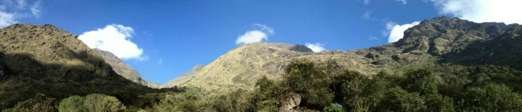 With high peaks around us, Paqaymayo Camp's setting is beautiful. Prepare for it to cloud over in the early evening.