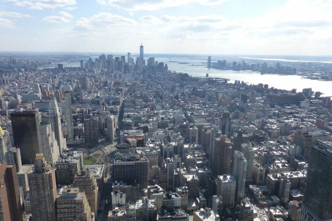 south Manhattan view from Empire State