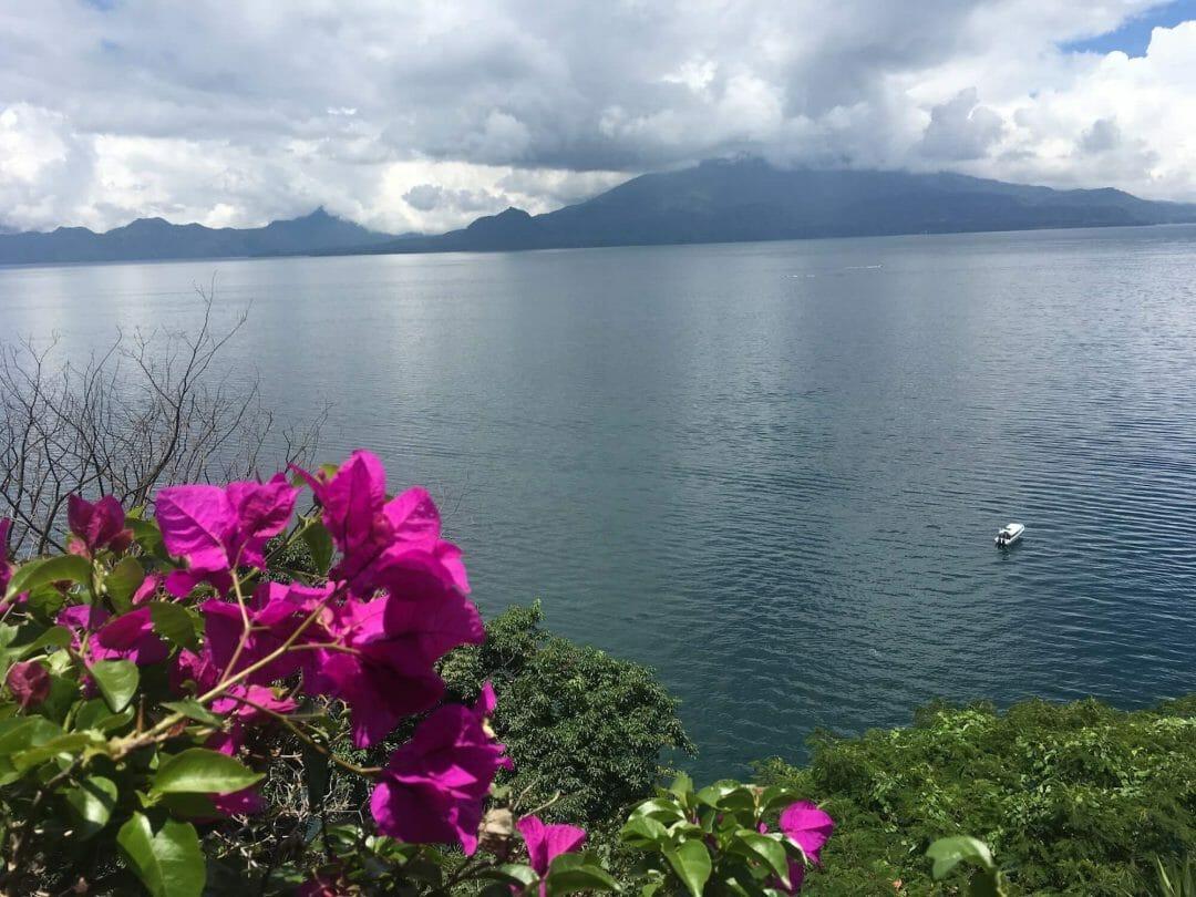 lake atitlan hiking trail view