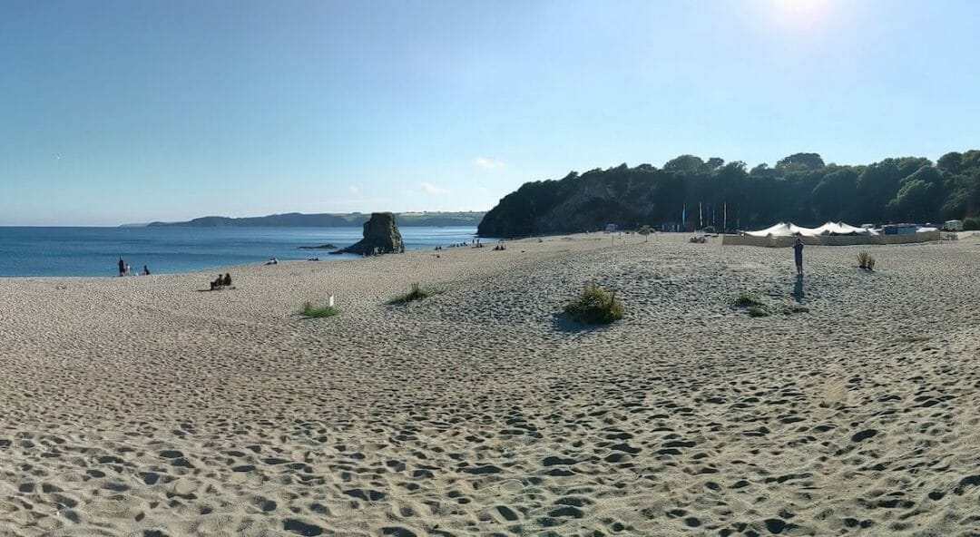 Looking out over Carlyon Bay Beach
