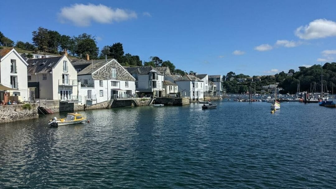 Looking along the Fowey River from the main harbour.